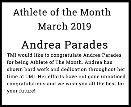 Athlete of The Month – Andrea Parades