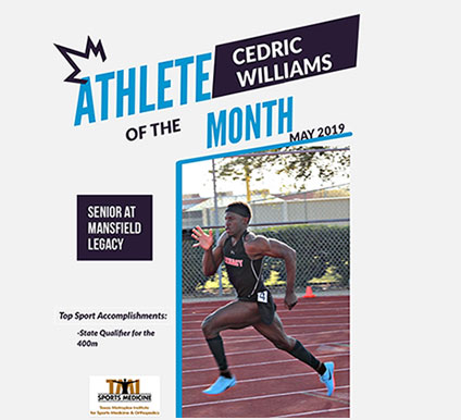 Athlete of The Month – Cedric Williams